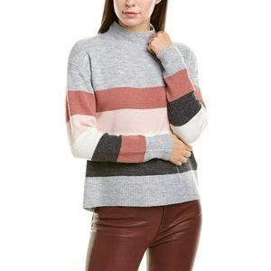 Beachlunchlounge Striped Mock Neck Sweater sz L